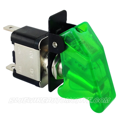 MISSILE FLIP SWITCH - LED GREEN ON/OFF - BWASW0512