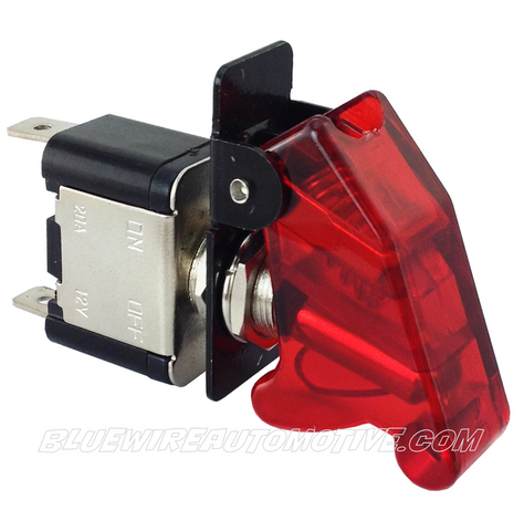 MISSILE FLIP SWITCH - LED RED ON/OFF - BWASW0510