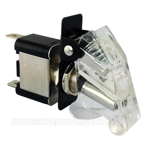 MISSILE FLIP SWITCH - LED WHITE ON/OFF - BWASW0513