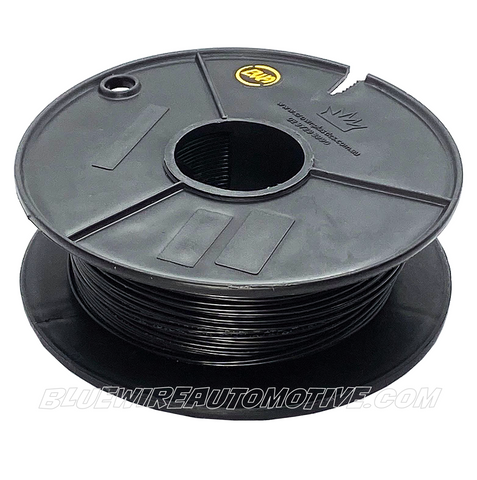 SINGLE CORE MILSPEC WIRE - BLACK - 22AWG - 30mtrs - BWAMSTBK22