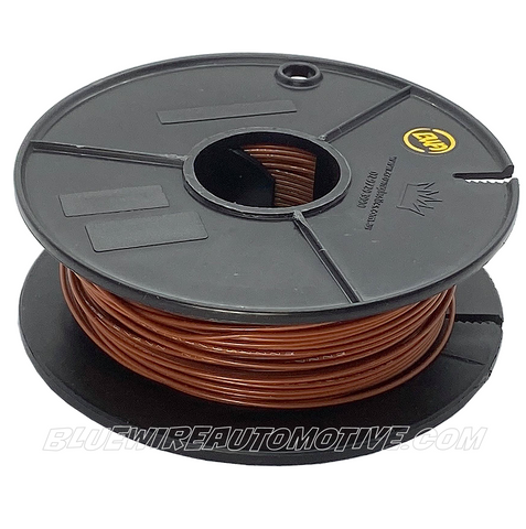 SINGLE CORE MILSPEC WIRE - BROWN - 20AWG - 30mtrs - BWAMSTBR20