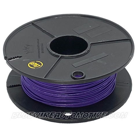 SINGLE CORE MILSPEC WIRE - VIOLET - 22AWG - 30mtrs - BWAMSTVL22