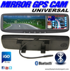 UNIVERSAL GPS SAT-NAV & BLUETOOTH CLIPON MIRROR MONITOR
