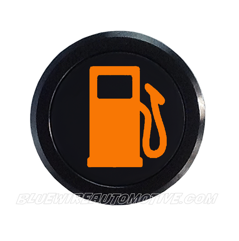 BLACK SERIES PILOT LIGHT SIGNAL-LOW FUEL-AMBER-14mm