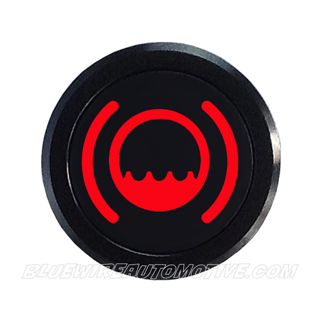 BLACK SERIES PILOT LIGHT SIGNAL-LOW FLUID-RED-14mm