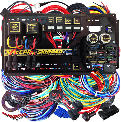 RACEPRO-SKIDPAD 12-CIRCUIT AUTOMOTIVE COMPETITION WIRING HARNESS-AUTO TRANS - BWARPS01