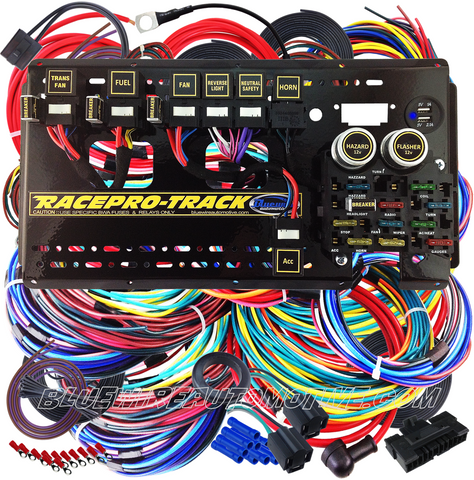 RACEPRO-TRACK 12-CIRCUIT AUTOMOTIVE COMPETITION WIRING HARNESS-AUTO TRANS- BWARPT01