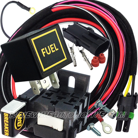 ELECTRIC FUEL PUMP HEAVY DUTY RELAY SYSTEM & HARNESS-30/40amp-BWARKFL01