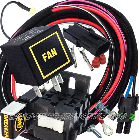 ELECTRIC FAN HEAVY DUTY RELAY SYSTEM & HARNESS-30/40amp-BWARKF01