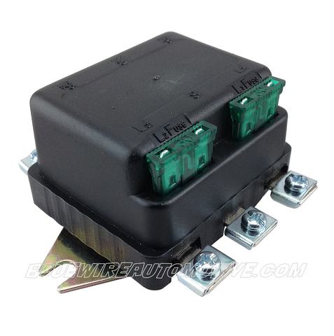 12v UNIVERSAL FUSED TWIN HEADLIGHT RELAY 30amp