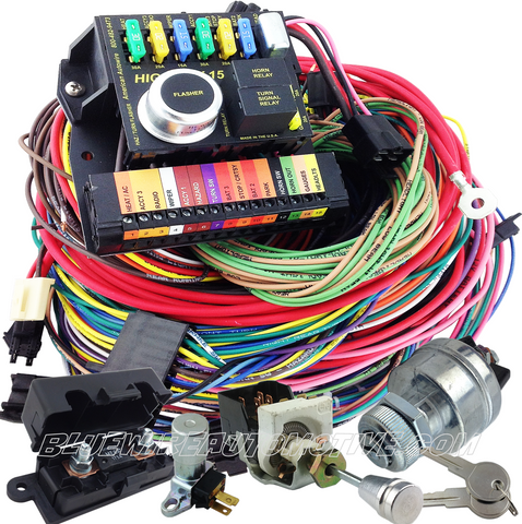READY RACE SERIES 15-CIRCUIT WIRE HARNESS + SWITCHES
