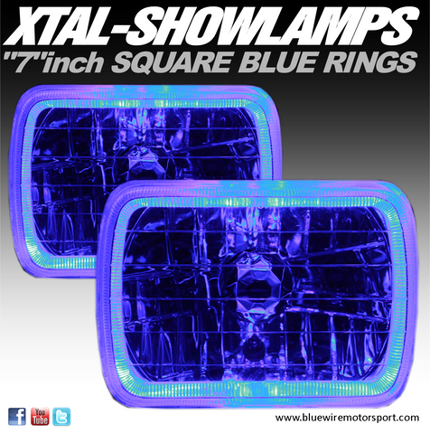 XTAL-SHOWLAMPS COLOURED - BLUE (7inch Square)