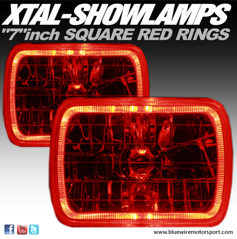 XTAL-SHOWLAMPS COLOURED - RED (7inch Square)