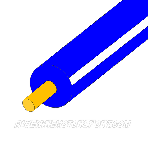 BLUE/WHITE SINGLE CORE WIRE - 30mtrs - 3mm