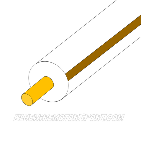 WHITE/BROWN SINGLE CORE WIRE - 30mtrs - 3mm
