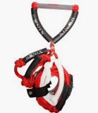"Ronix Surf Rope 10"" W/25Ft 4-Sect Red/Silver 