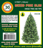 5ft Slim Mixed Pine