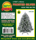 4ft Frosted Silver Fir