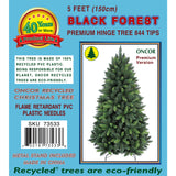 5ft Premium Black Forest