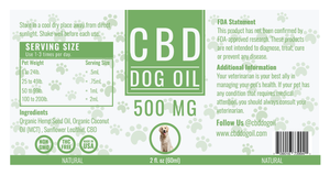 CBD Dog Oil