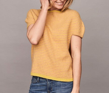 Katrine Hannibal knitting patterns for tops and t-shirts