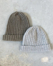 Advent 2018 hat, 2 hats knitted in Önling No 2 sustainable yarn made of merino wool