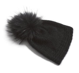 Ahhhh mink hat, soft and warm black knitted hat, made in Önling No 3 mink yarn