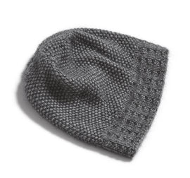 Ahhhh mink hat, soft and warm light grey knitted hat, made in Önling No 3 mink yarn