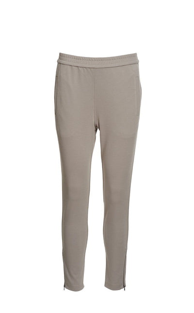 Aisha elegant pants, beige suit pants for women, made in viscose, the front