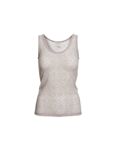 Anastasia grey rose tank top in full lace, the front