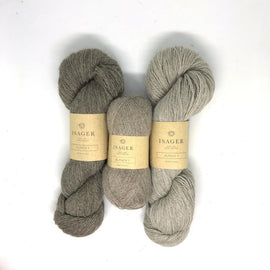 Yarn kit for Asta in original beige colors, Isager Alapaca yarn