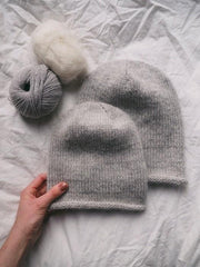 Baggy hat by Petiteknit, No 2 + silk mohair knitting kit