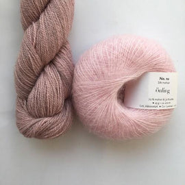 Yarn kit with Alpaca 2 from Isager yarn and Silk Mohair (Önling No 10), Light pink