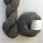 Yarn kit with Alpaca 2 from Isager yarn and Silk Mohair (Önling No 10), both grey