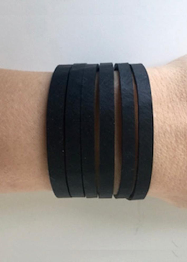 Bracelet, Recycled Rubber - STRAIGHT