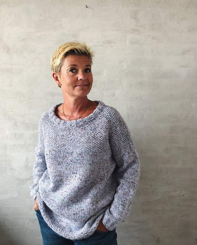 Brigitte B sweater, knitting pattern Knitting patterns Önling - Katrine Hannibal_Önling