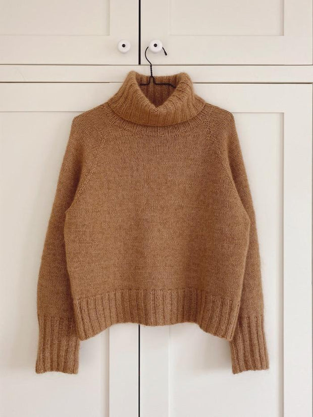 Caramel sweater by PetiteKnit, No 12 + silk mohair knitting kit