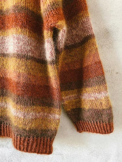 Knitting pattern for striped Chloé sweater, no 12 and silk mohair