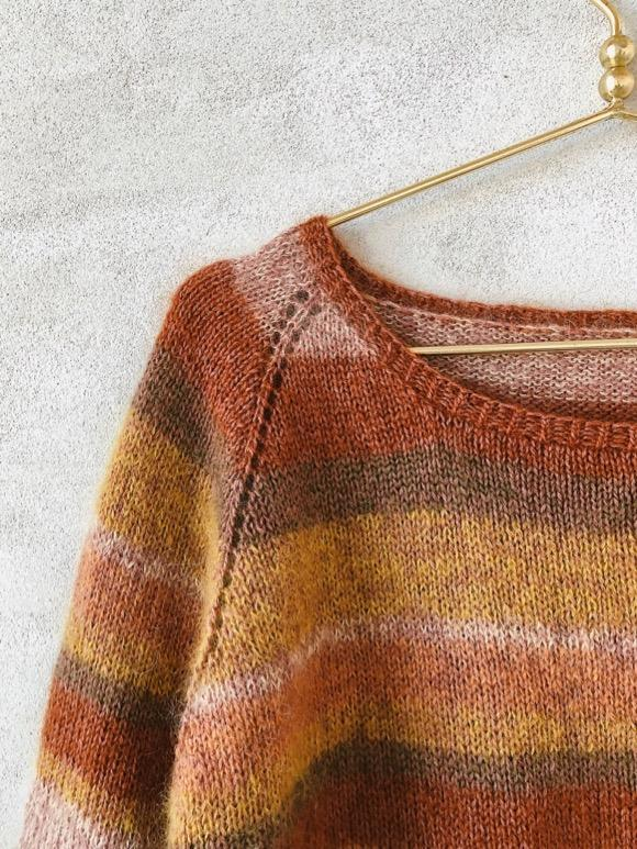 Chloé sweater i silk mohair striber