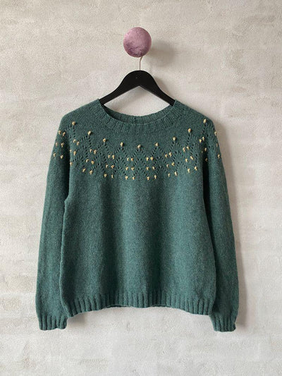 Christmas sweater 2020, No 2 + shiny knitting kit Knitting kits Önling - Katrine Hannibal