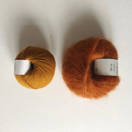 Coco Mohair Slipover, mono-color kit Knitting kits Önling - Katrine Hannibal Caramel XS-M