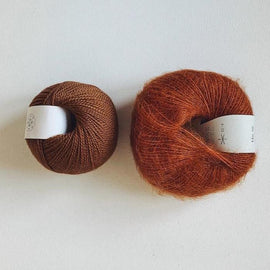 Coco Mohair Slipover, mono-color kit Knitting kits Önling - Katrine Hannibal Cognac XS-M