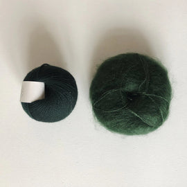 Coco Mohair Slipover, mono-color kit Knitting kits Önling - Katrine Hannibal Dark green XS-M