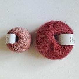 Coco Mohair Slipover, mono-color kit Knitting kits Önling - Katrine Hannibal Dark rose XS-M