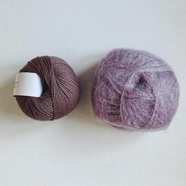 Coco Mohair Slipover, mono-color kit Knitting kits Önling - Katrine Hannibal Dusty purple XS-M