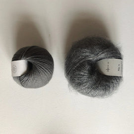 Coco Mohair Slipover, mono-color kit Knitting kits Önling - Katrine Hannibal Gray XS-M