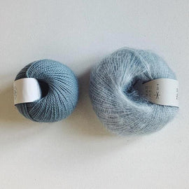 Coco Mohair Slipover, mono-color kit Knitting kits Önling - Katrine Hannibal Light blue XS-M