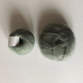 Coco Mohair Slipover, mono-color kit Knitting kits Önling - Katrine Hannibal Mint green XS-M