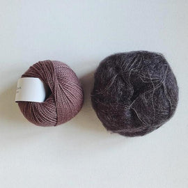 Coco Mohair Slipover, mono-color kit Knitting kits Önling - Katrine Hannibal Shale XS-M