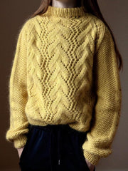 Knitting pattern for Copenhagen Sweater designed by June Thomsen for Yarn Lovers.
